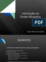 Introdução Ao Direito Minerário
