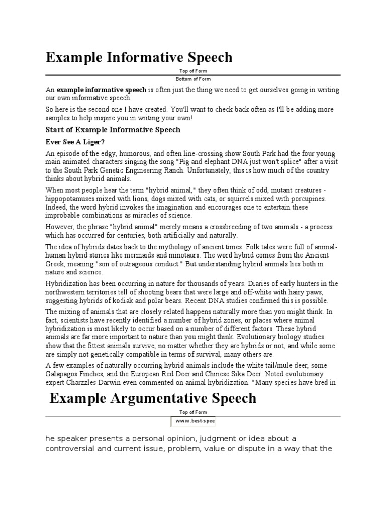 A Bias | Hybrid (Biology) | Public Speaking