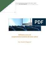 Reflexiones Sobre El Financiamiento Público de La Cultura