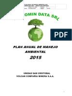 Plan Anual de Manejo Ambiental Td 2015