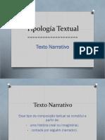 Tipología Textual-texto NARRATIVO