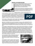 Historia Del Lloyd Aereo Boliviano