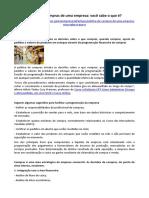 ARTIGO - AQUISIÇÕES - Política de Compras de Uma Empresa (Silvana Teixeira, CPT)
