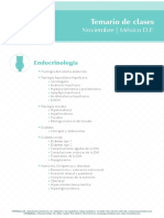 Temario de Clases Endocrinologia