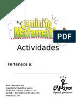 Actividades caminito matemático