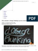 Para Entender o Design Thinking é Preciso Entender o Que é Inovação - CIO