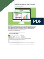 [Panduan Pemula] Cara Membuat Kop Surat Di Microsoft Excel 2010