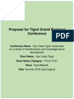 Proposal Concept Note for Tigrai Grand Conference 2018 in Tigrai