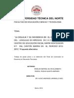 """""""LA DISLALIA Y SU INCIDENCIA EN  EL DESARROLLO DEL  LENGUAJE EN NIÑOSAS  DE 3 A 5 AÑOS DE EL.pdf"""