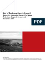 Isle of Anglsesy County Council Preliminary Corporate Assess Rnglish