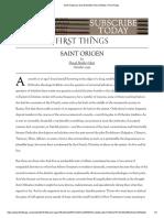 Saint Origen by David Bentley Hart _ Articles _ First Things