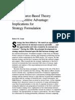 Resource Based Theory
