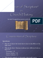 The Canonization of the Old Testament in Church History
