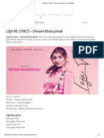 LEJA RE LYRICS - Dhvani Bhanushali - LyricsBELL