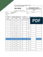 Tabel Melintang 2