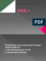 PPT MTK Kelas 1 Bab 1