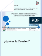 Clase 2. Presión Presión Hidrostática. Propiedades. Conferencia y Clase Práctica
