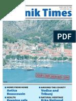 The Sibenik Times, July 19th 2008.