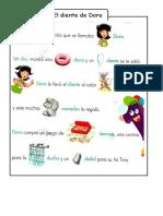 Diente de Dora Letra d