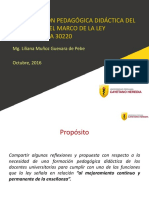 La Formación Pedagógica Didáctica Del Docente en El Marco de La Ley Universitaria 30220