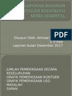 Laporan Bulanan Instalasi Radiologi Mitra Hospital