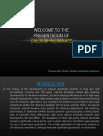 Presentation of Calcium Aluminate