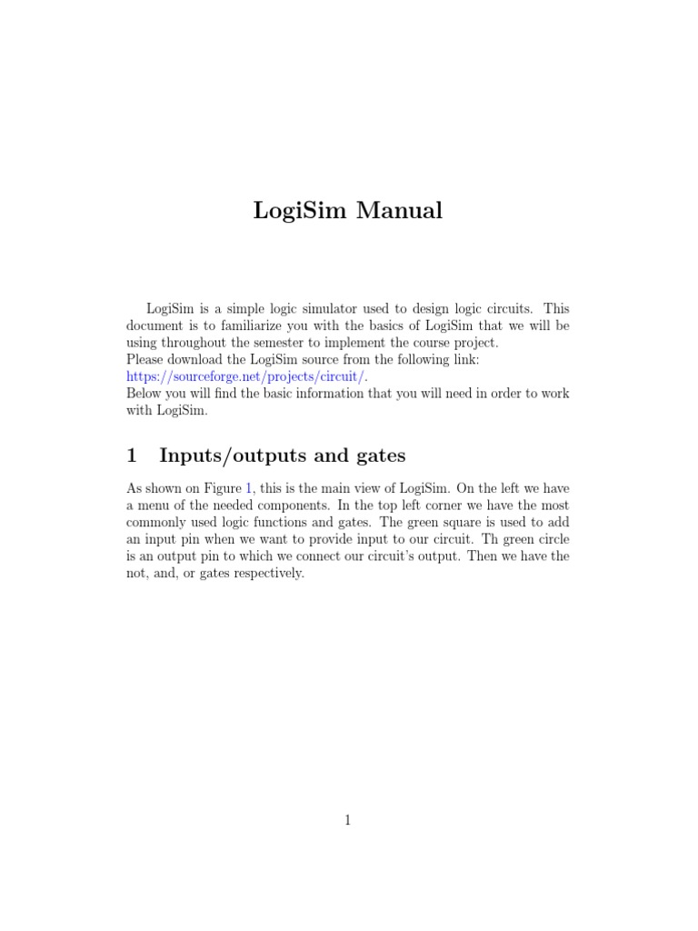 CSEN402 LogiSim Manual 25818 | Bit | Logic Gate