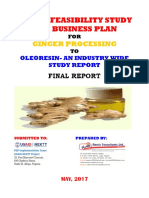 Model Business Plan for Ginger Processing to Oleoresin