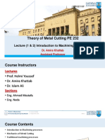 Lecture 1 & 2 Introduction & Basics