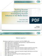 Tackling Russian Propaganda through Investigating Russian Influence in the Media Sector - by Todor Galev, PhD, Chisinau, Dec 4, 2018