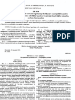 metodologie competiții școlare
