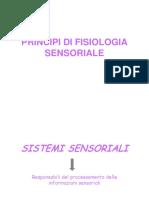 Principi Di Fisiologia Sensoriale