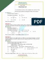 Punjab Examination Commission PEC 8th Class Mathematics Unit 2.4 Notes