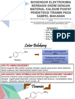 Biosensor Elektrokimia Berbasis Enzim Untuk Deteksi Tiramin
