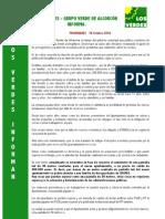 Los Verdes Informan Prior Ida Des