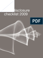 IFRS Disclosure Checklist 2009