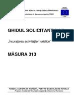Ghidul Solicitantului Pentru Masura 313