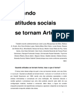 Quando Atitudes Sociais Se Tornam Artes