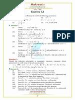Punjab Examination Commission PEC 8th Class Mathematics Unit 9 Notes