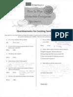 Hosting Families Questionnaires 1