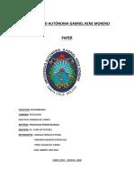 Paper de Psicologia Etnoecologica