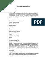 Notes for c Language Part 1.Doc