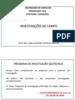 3. Investigações de Campo
