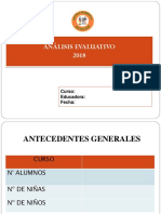 Analisis Evaluativo Año 2018