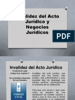 Invalidez Del Acto Jurídico y Negocios Jurídicos..