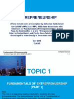 Topic 1 Fund of Entre n Topic 2 Creativity