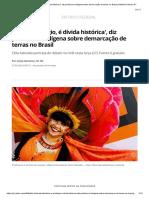 'Não é Privilégio, é Dívida Histórica', Diz Professora Indígena Sobre Demarcação de Terras No Brasil _ Distrito Federal _ G1