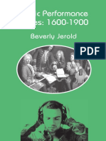 Beverly Jerold - Music Performance Issues 1600–1900