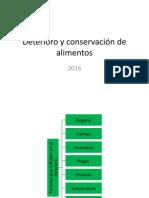 Conservación y Deterioro de Alimentos