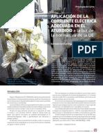 Aplicacion Corriente Electrica Adecuada en Sensibilidad de Pollo